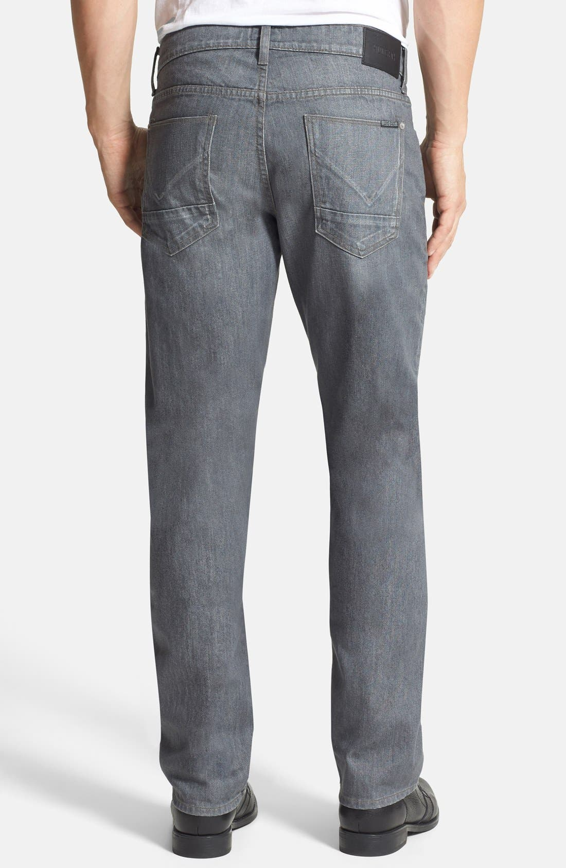 Alternate Image 2  - Hudson Jeans 'Byron' Straight Leg Jeans (Grey Rider)