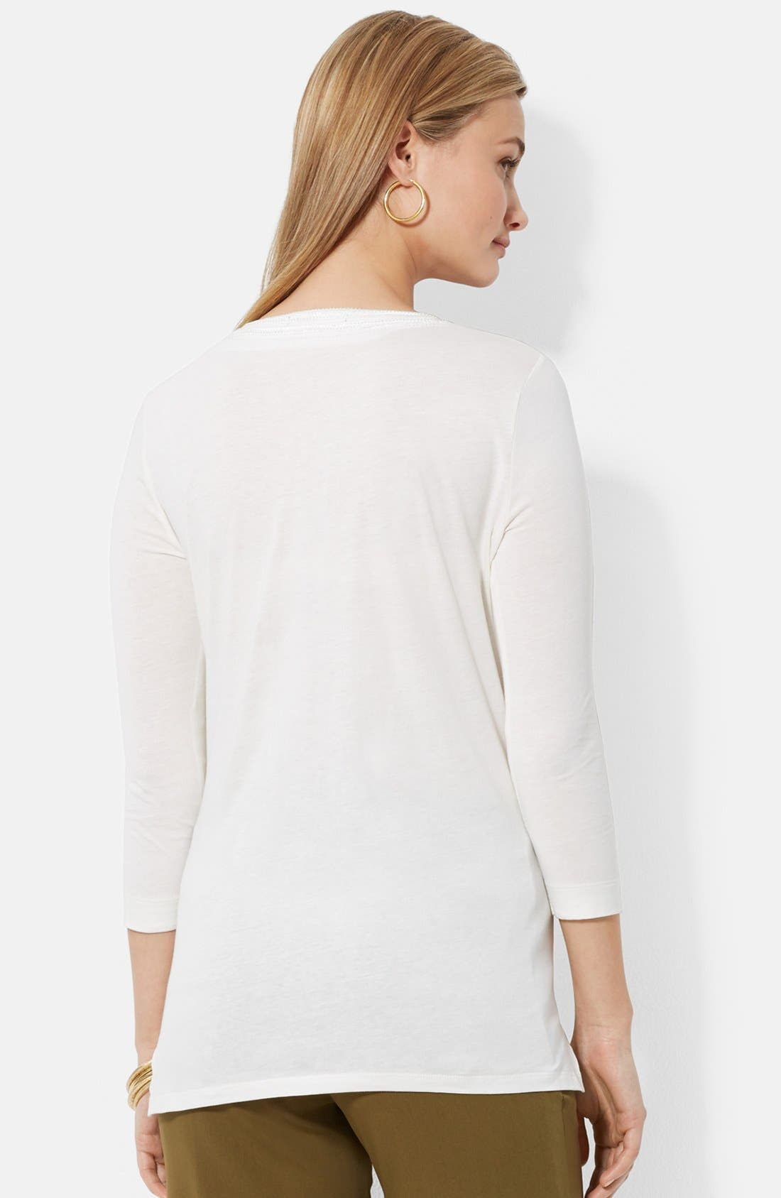 Alternate Image 2  - Lauren Ralph Lauren Cotton Jersey Tunic