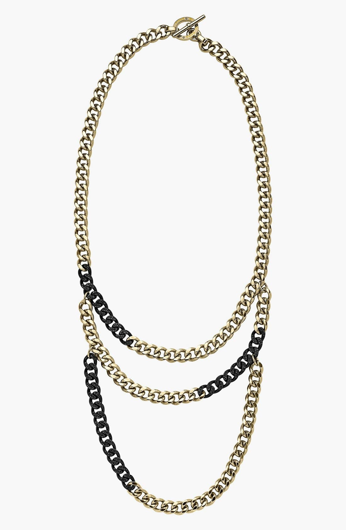 Main Image - Michael Kors Two-Tone Curb Link Necklace