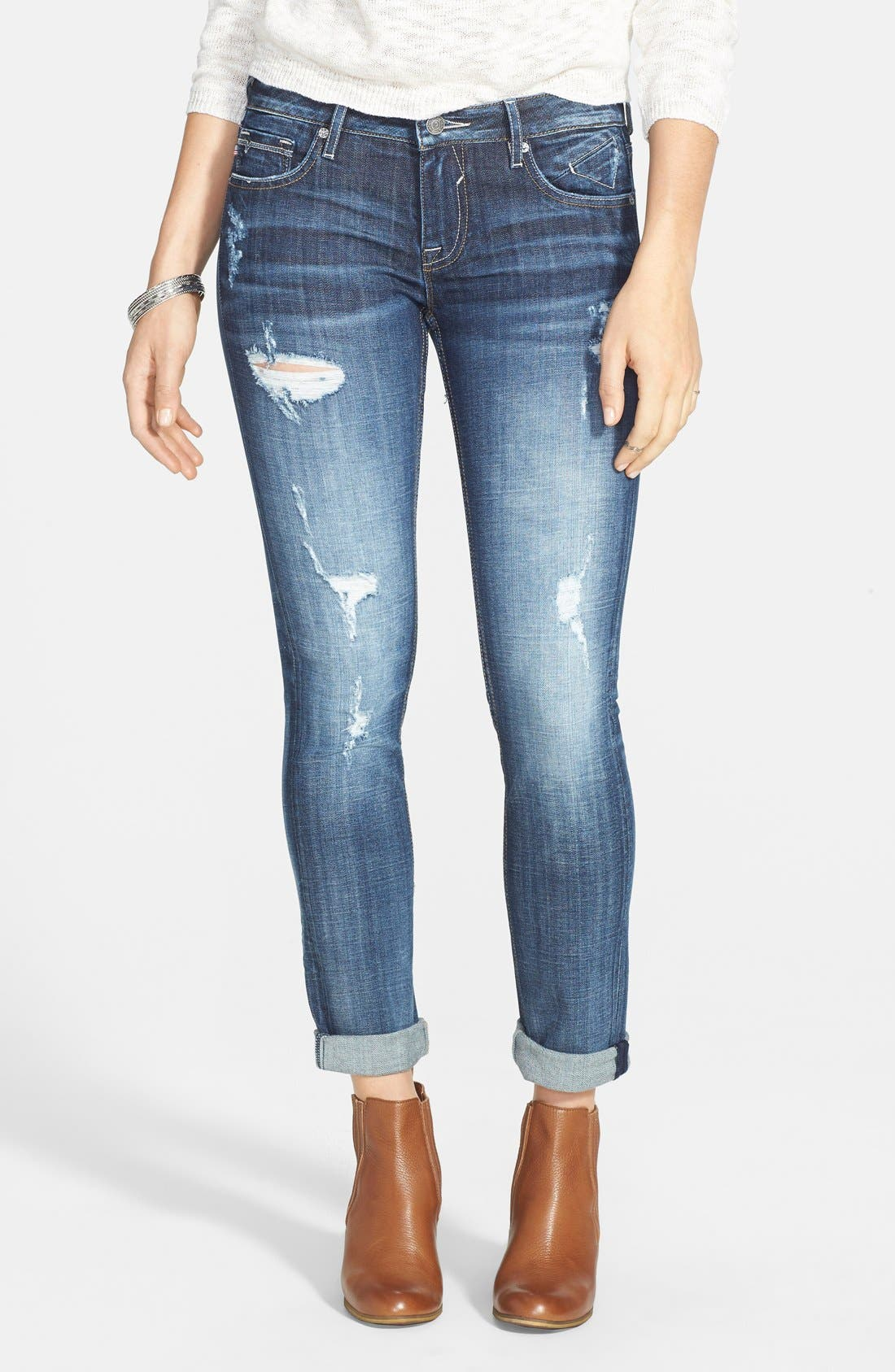 Main Image - Vigoss 'Thompson Tomboy' Crop Jeans (Medium Wash)