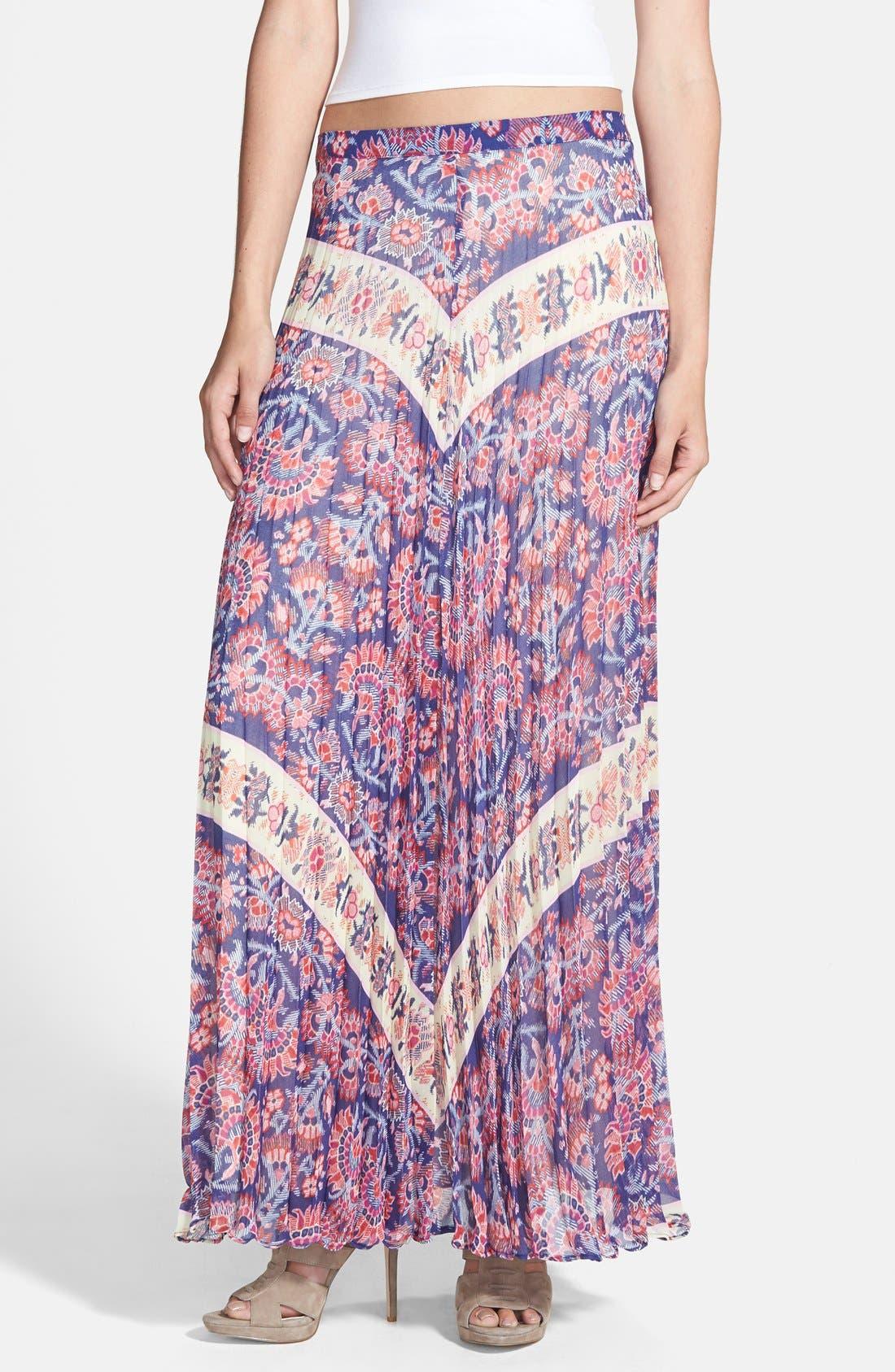Alternate Image 1 Selected - Like Mynded Pleat Maxi Skirt