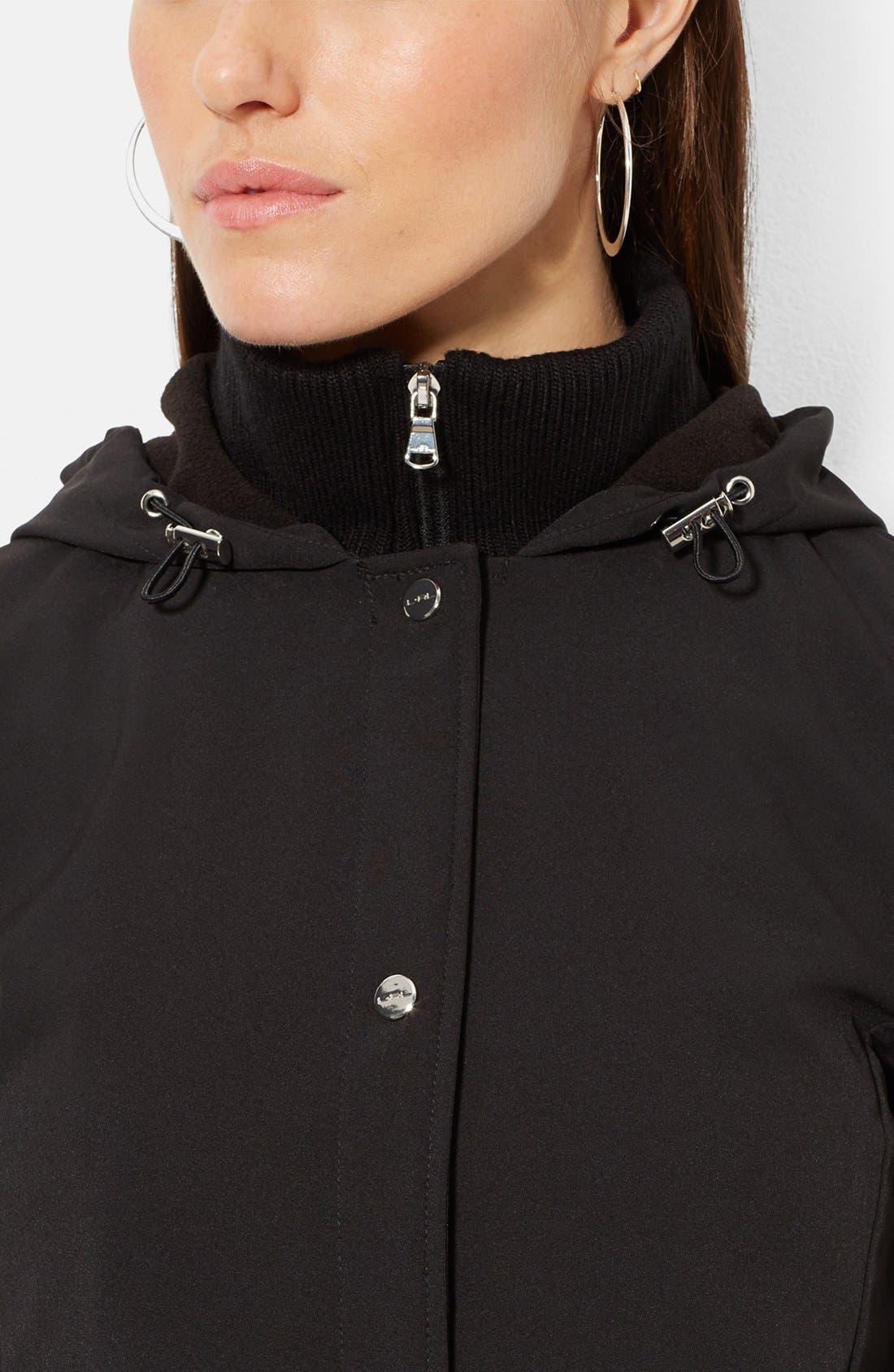 Alternate Image 3  - Lauren Ralph Lauren Front Insert Hooded Soft Shell Jacket (Online Only)