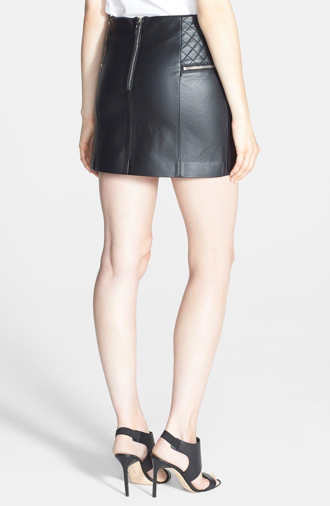 Alternate Image 2  - Sam Edelman Faux Leather Miniskirt