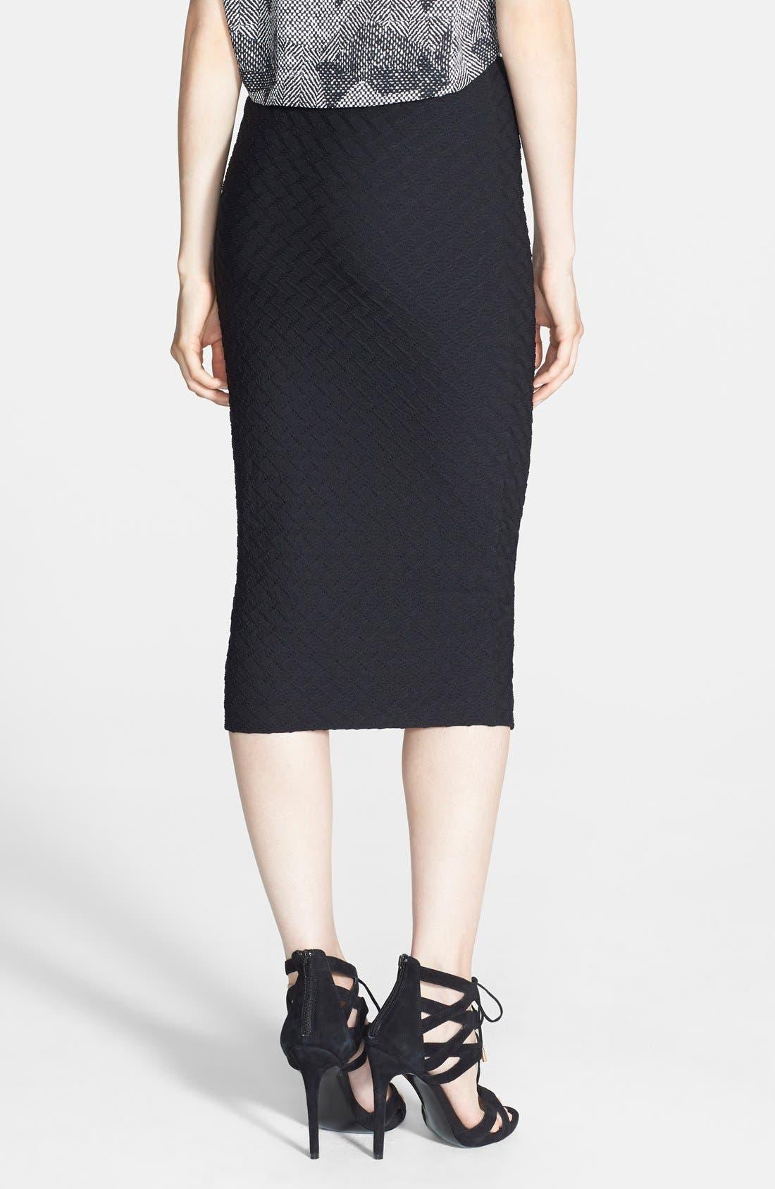 Alternate Image 2  - Tildon Textured Knit Tube Skirt