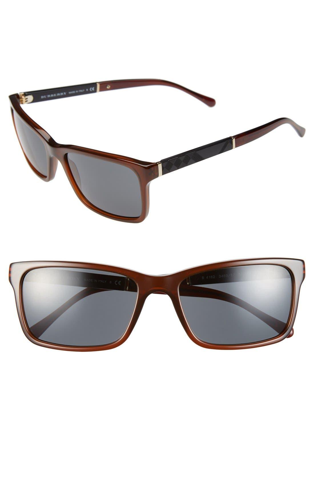 Alternate Image 1 Selected - Burberry 58mm Sunglasses