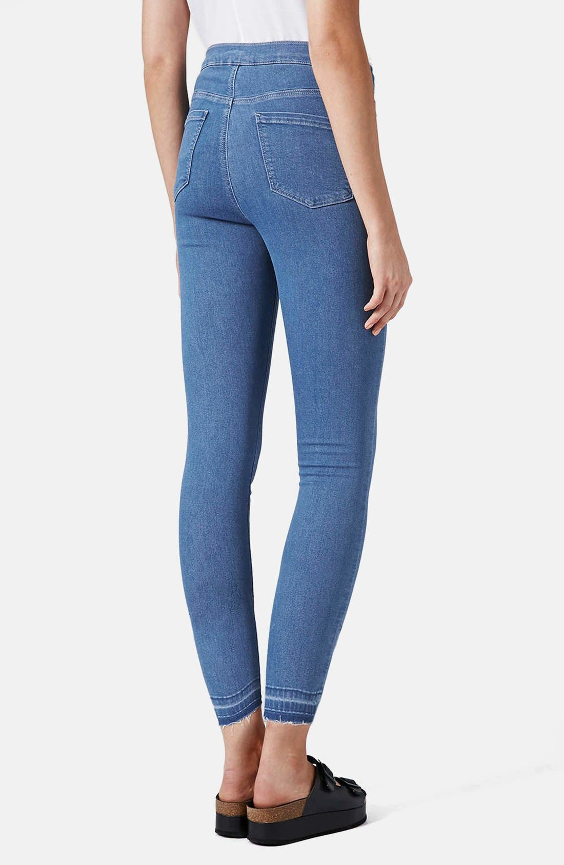 Alternate Image 2  - Topshop Moto 'Joni' High Rise Crop Skinny Jeans (Light)