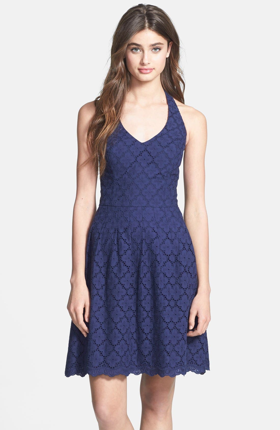 Alternate Image 1 Selected - Lilly Pulitzer 'Ross' Lace Halter Dress