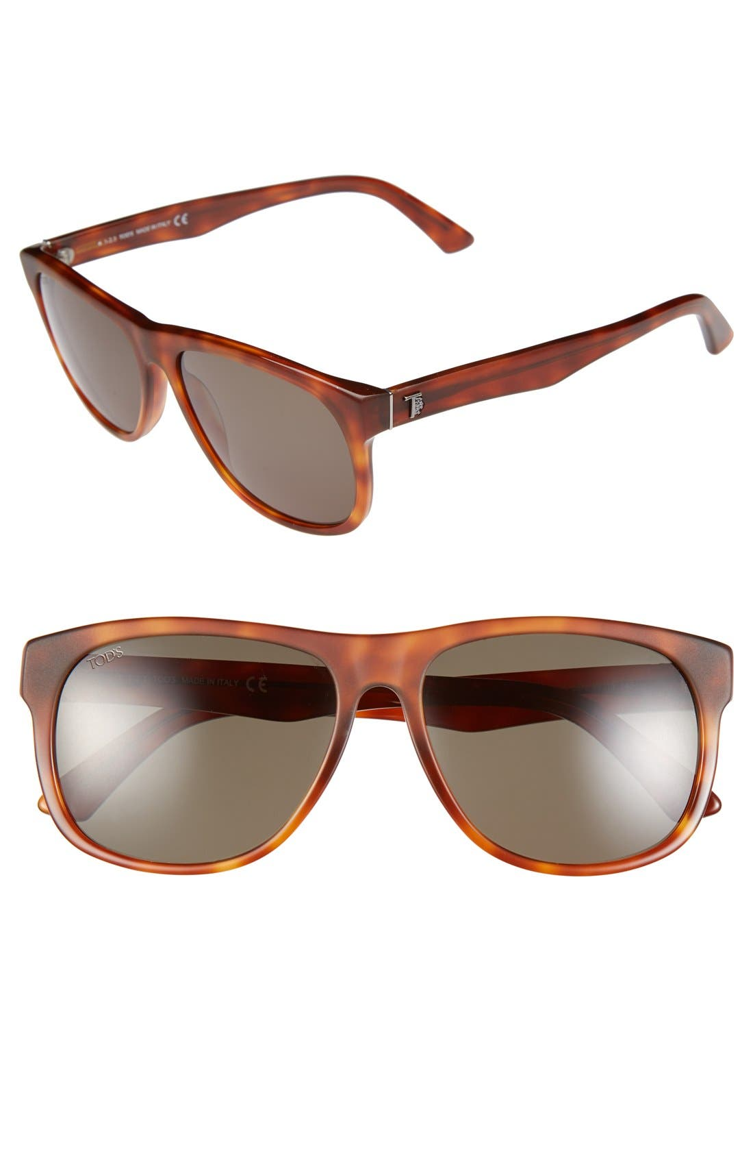 Main Image - Tod's 58mm Retro Sunglasses