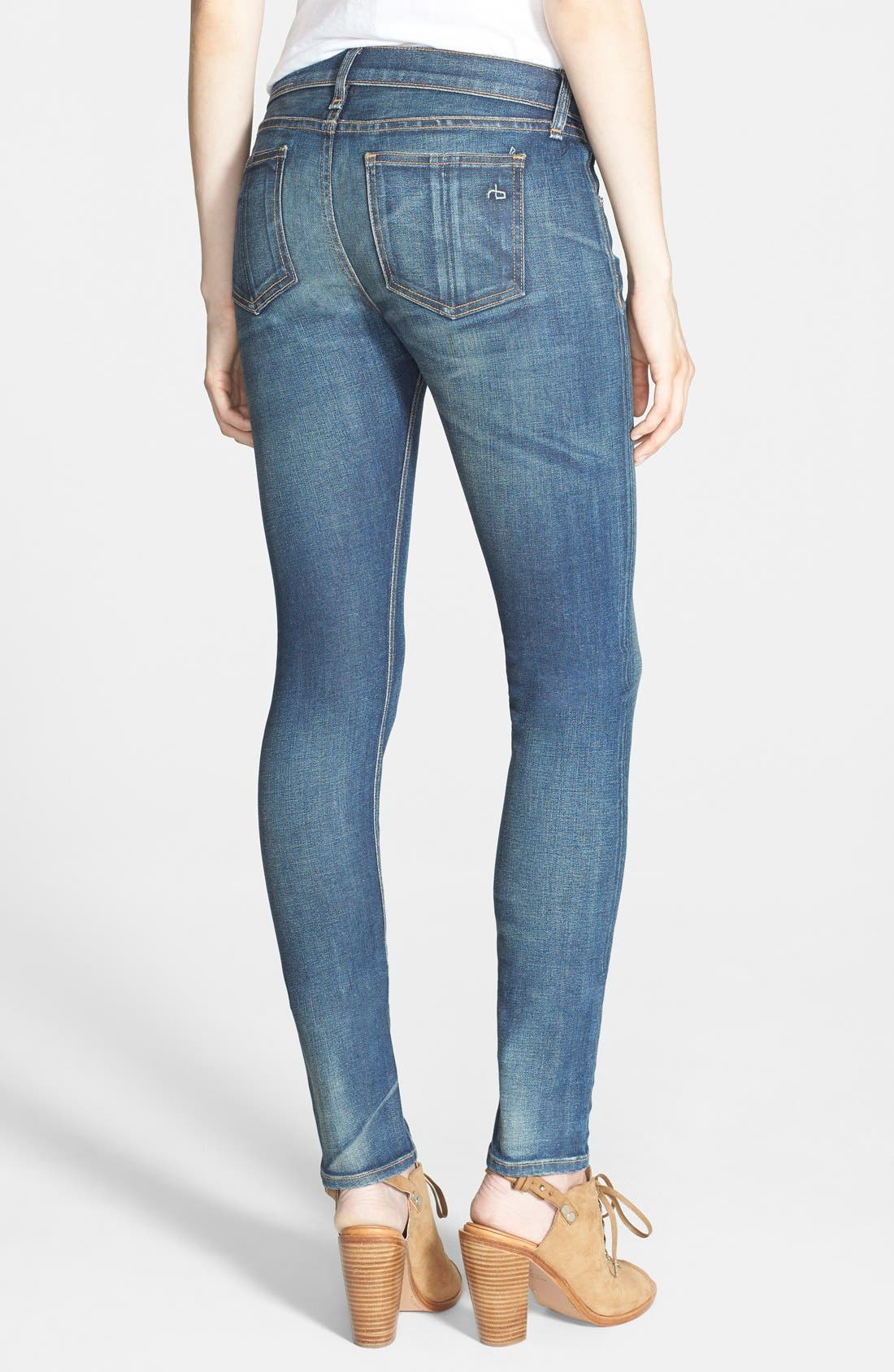 Alternate Image 2  - rag & bone/JEAN Stretch Skinny Jeans (Kingsland)