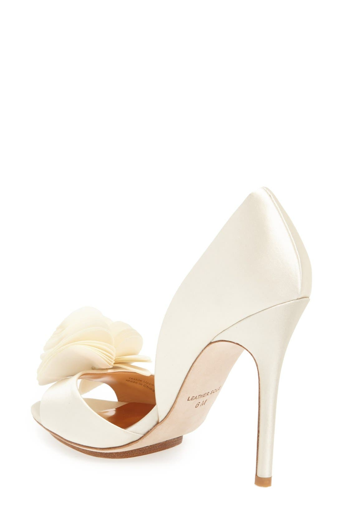 Alternate Image 2  - Badgley Mischka 'Blossom' Open Toe d'Orsay Pump (Women)