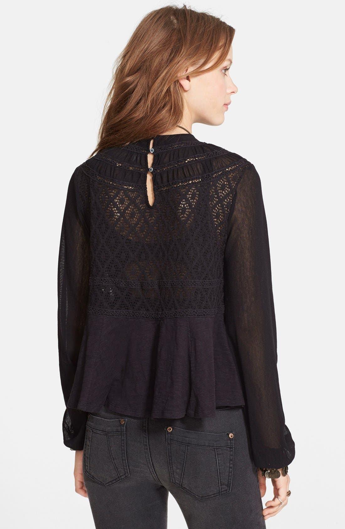 Alternate Image 2  - Free People 'English Rose' Embroidered Lace Top