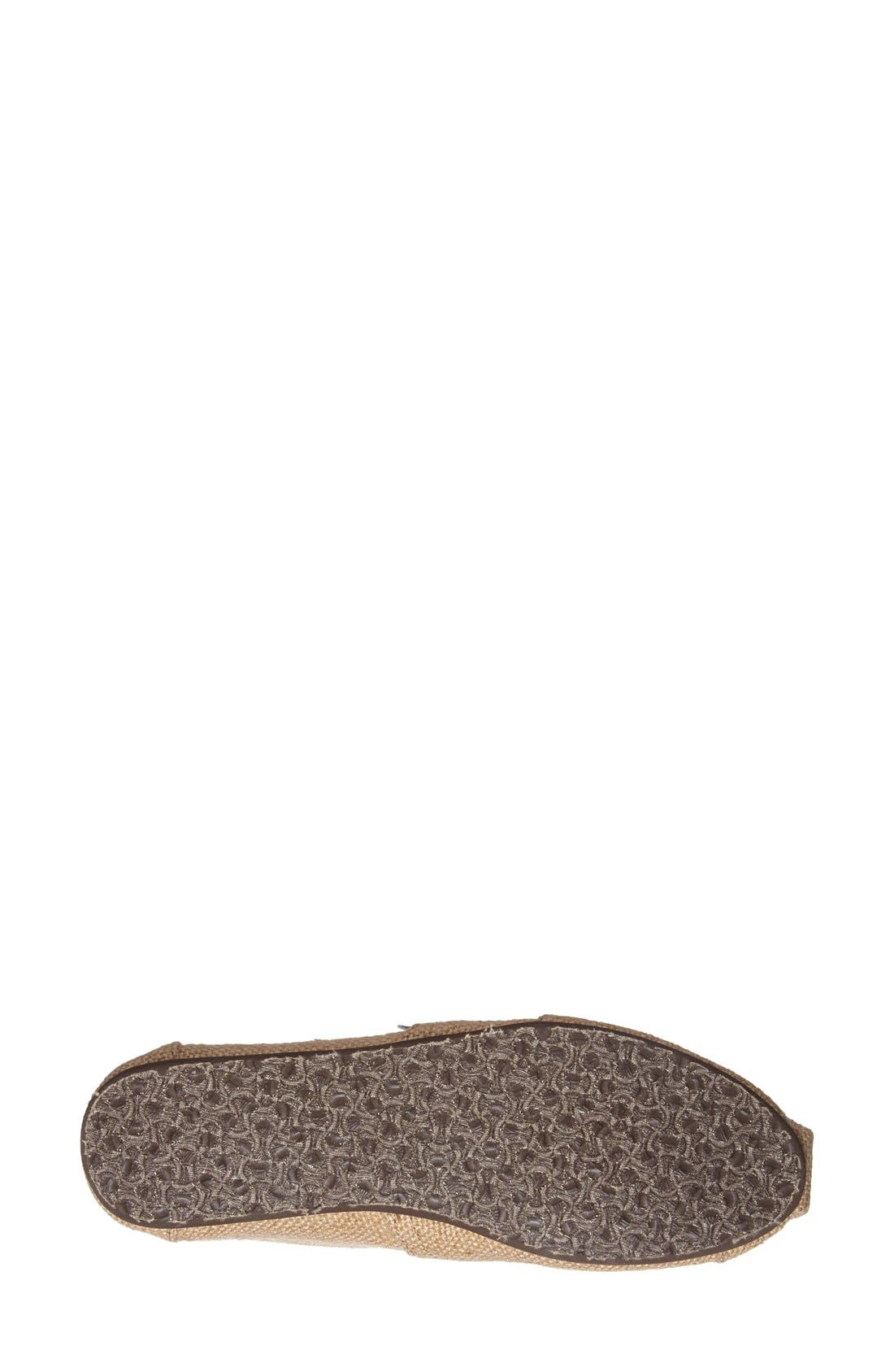 Alternate Image 4  - TOMS Burlap Slip-On (Women)