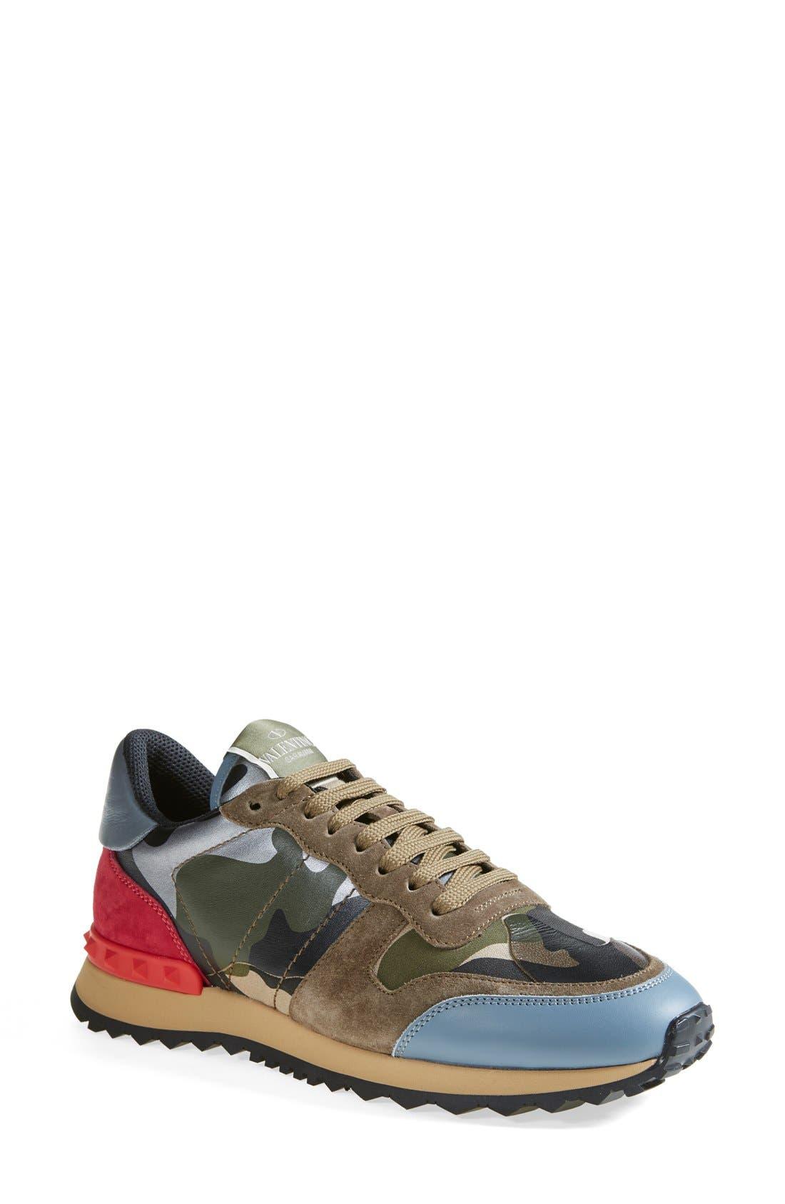 Main Image - VALENTINO GARAVANI Camouflage Sneaker (Women)