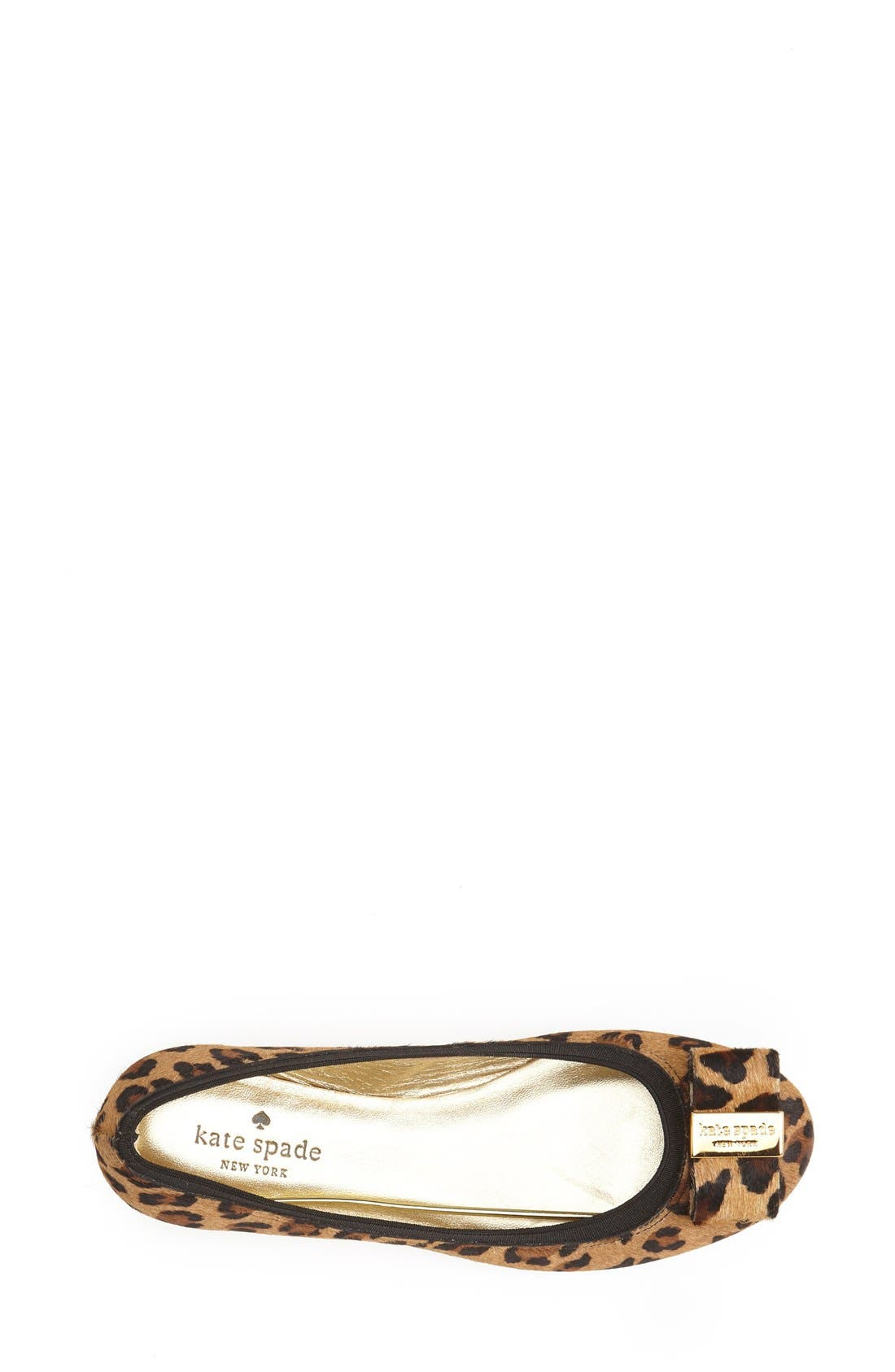 Alternate Image 4  - kate spade new york 'tock' calf hair flat (Women)