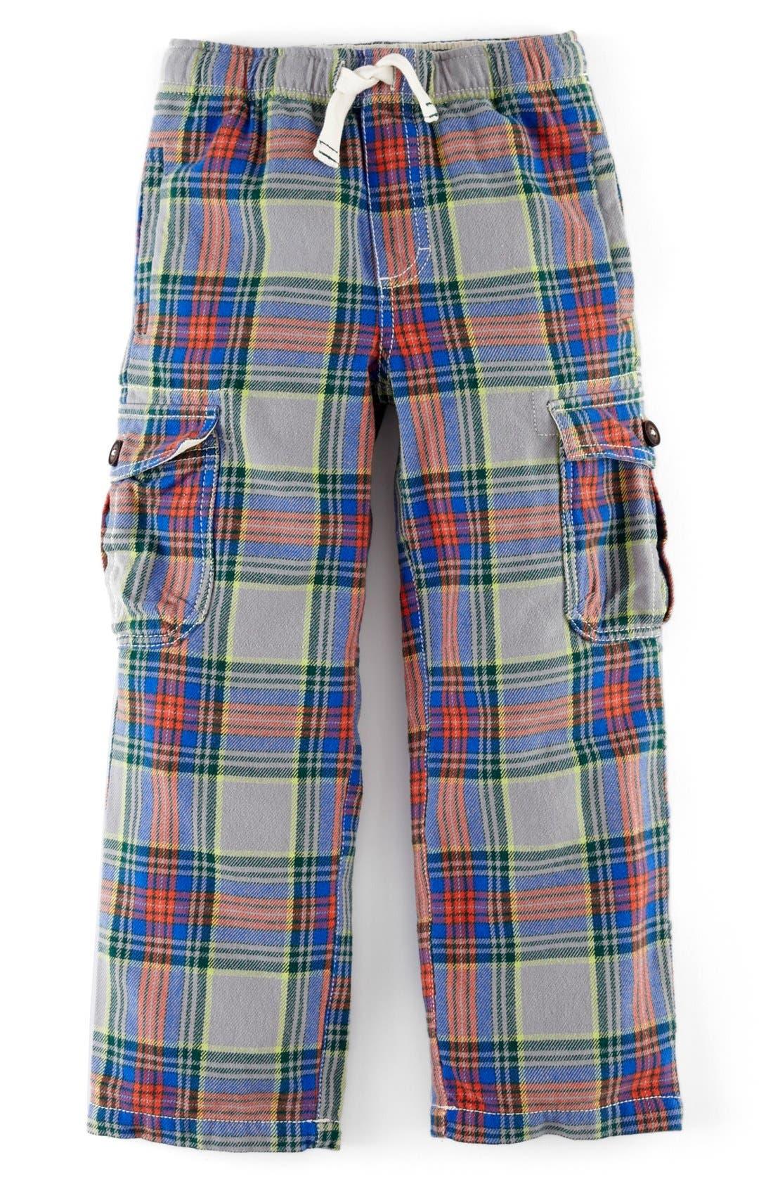 Main Image - Mini Boden Brushed Tartan Cargo Pants (Toddler Boys, Little Boys & Big Boys)