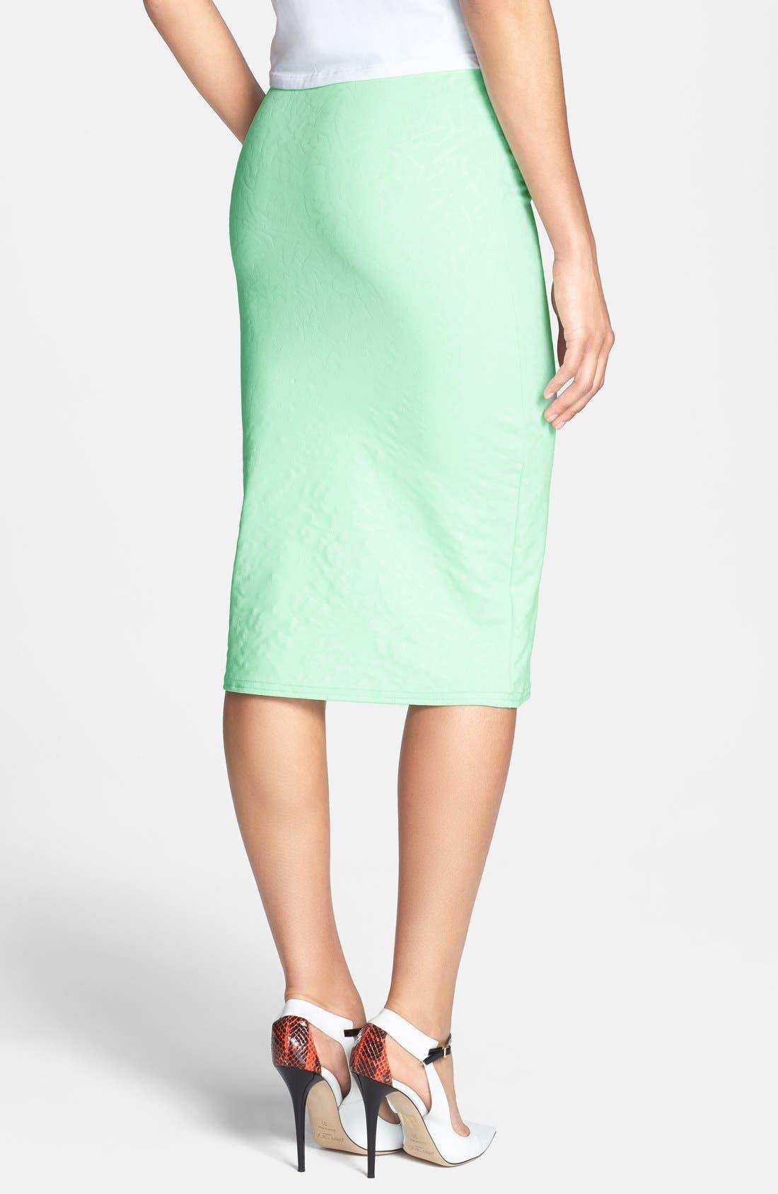 Alternate Image 2  - Glamorous Print Midi Skirt