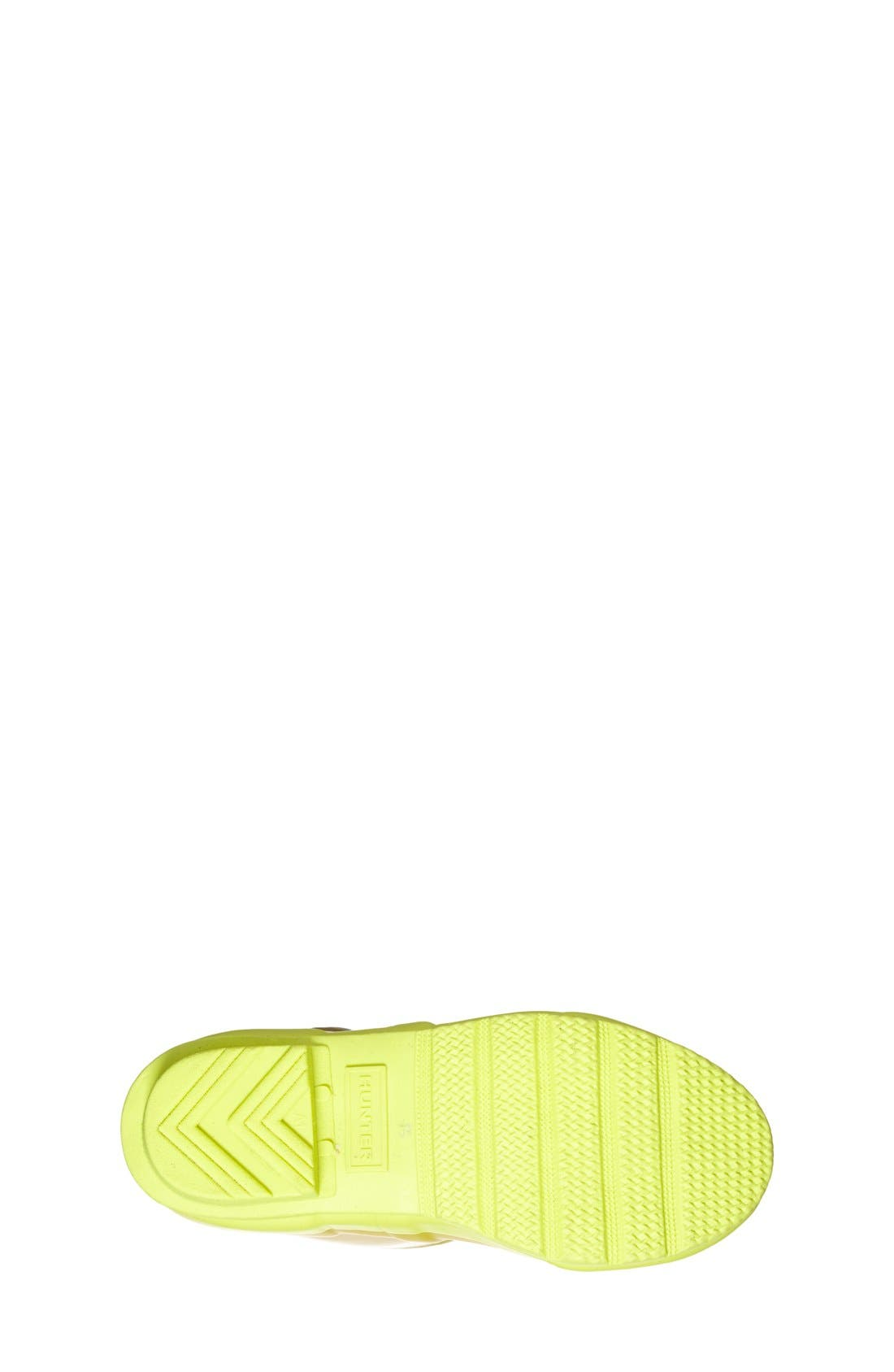 'Original Contrast Sole' Waterproof Rain Boot,                             Alternate thumbnail 4, color,                             Yellow Chartreuse