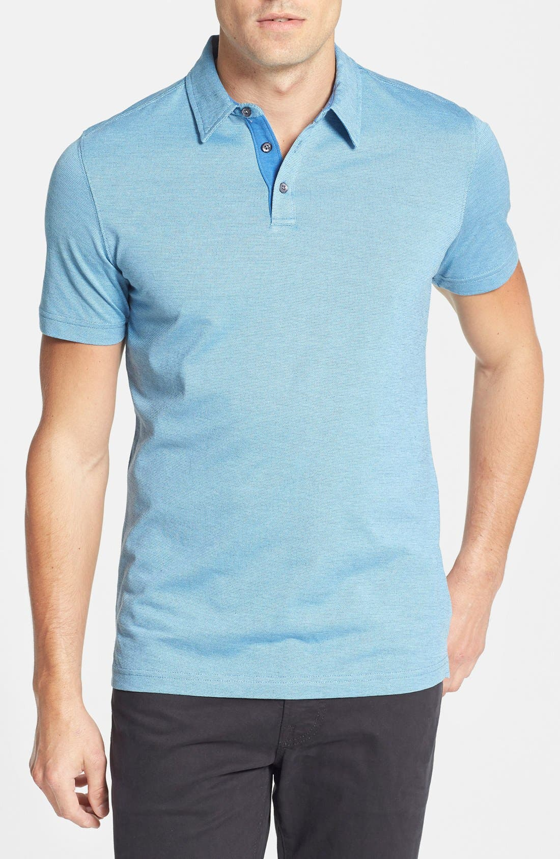 Main Image - Robert Barakett 'Ludwig' Bird's Eye Knit Polo