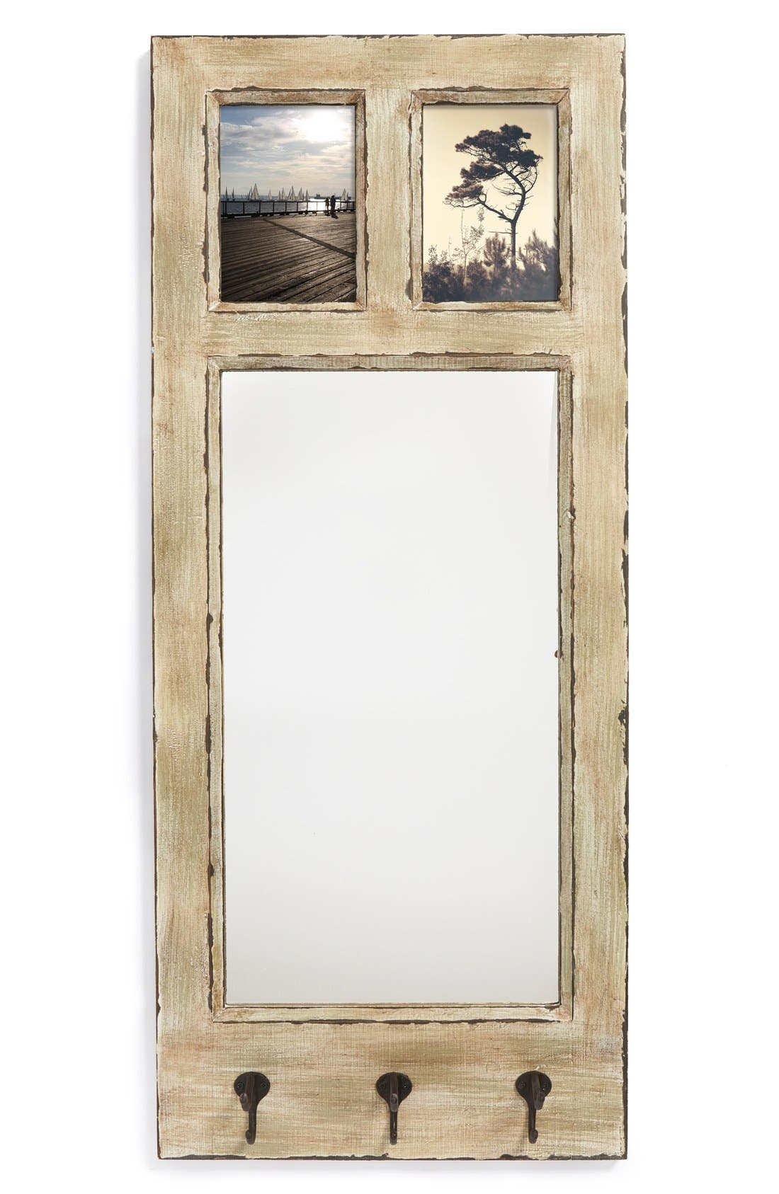 Main Image - Creative Co-Op Wooden Wall Mirror, Picture Frame & Hooks