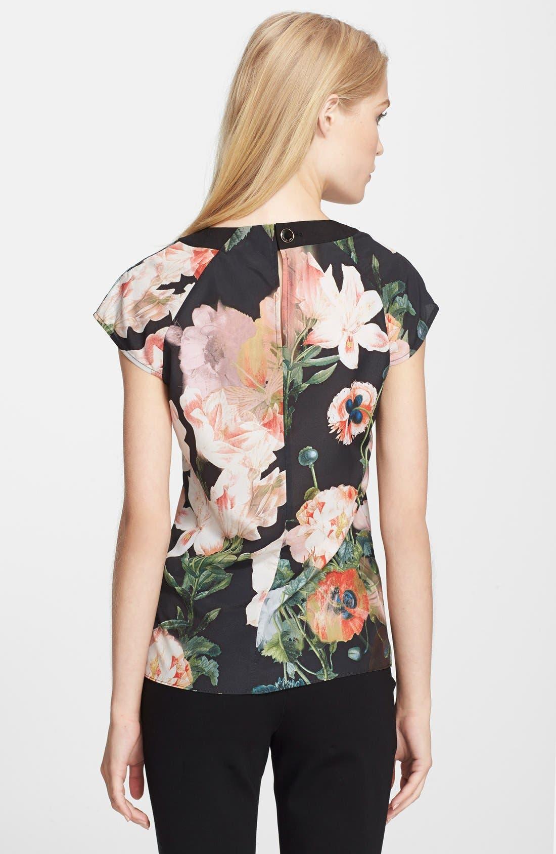 Alternate Image 2  - Ted Baker London 'Opulent Bloom' Print Top
