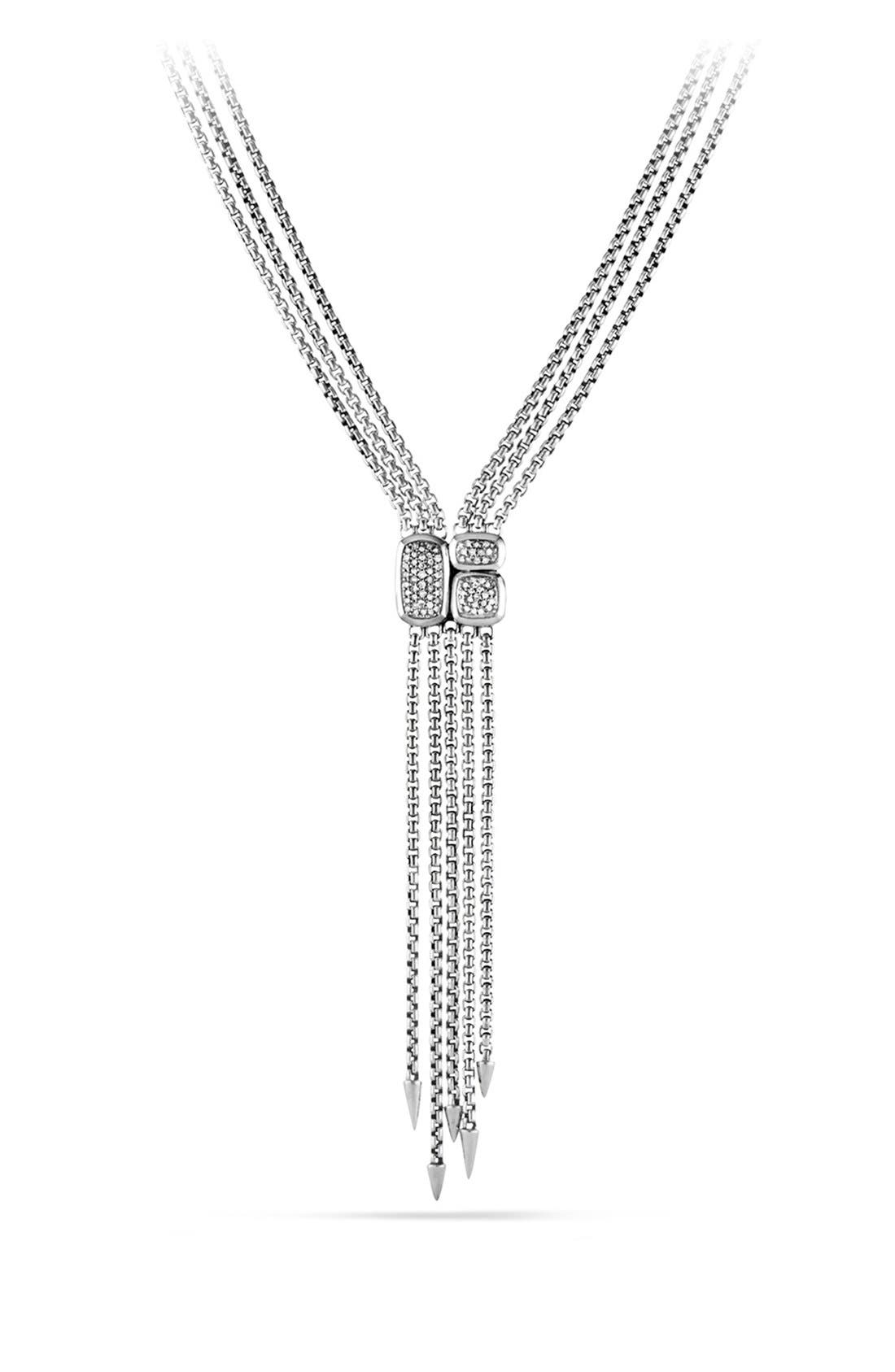 'Confetti' Drop Necklace with Diamonds,                             Main thumbnail 1, color,                             Diamond