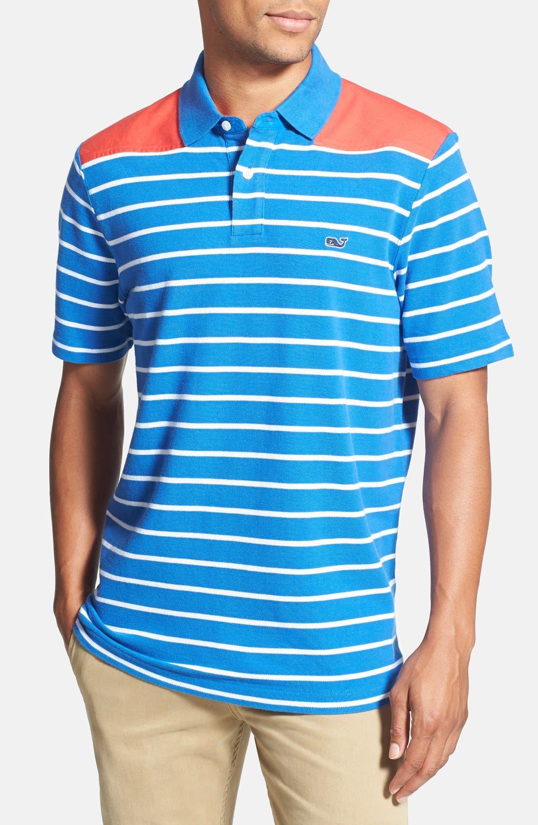 Main Image - Vineyard Vines 'Shep' Stripe Polo Shirt