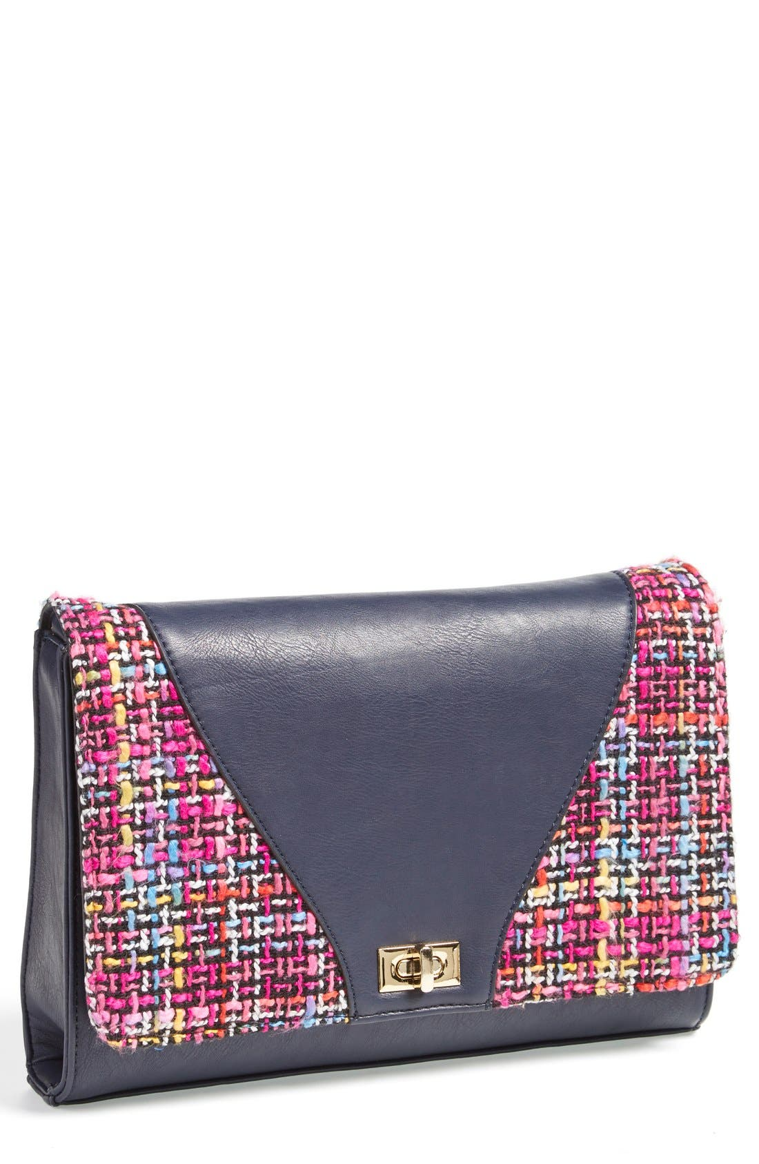 'Agnes' Clutch,                             Main thumbnail 1, color,                             Navy
