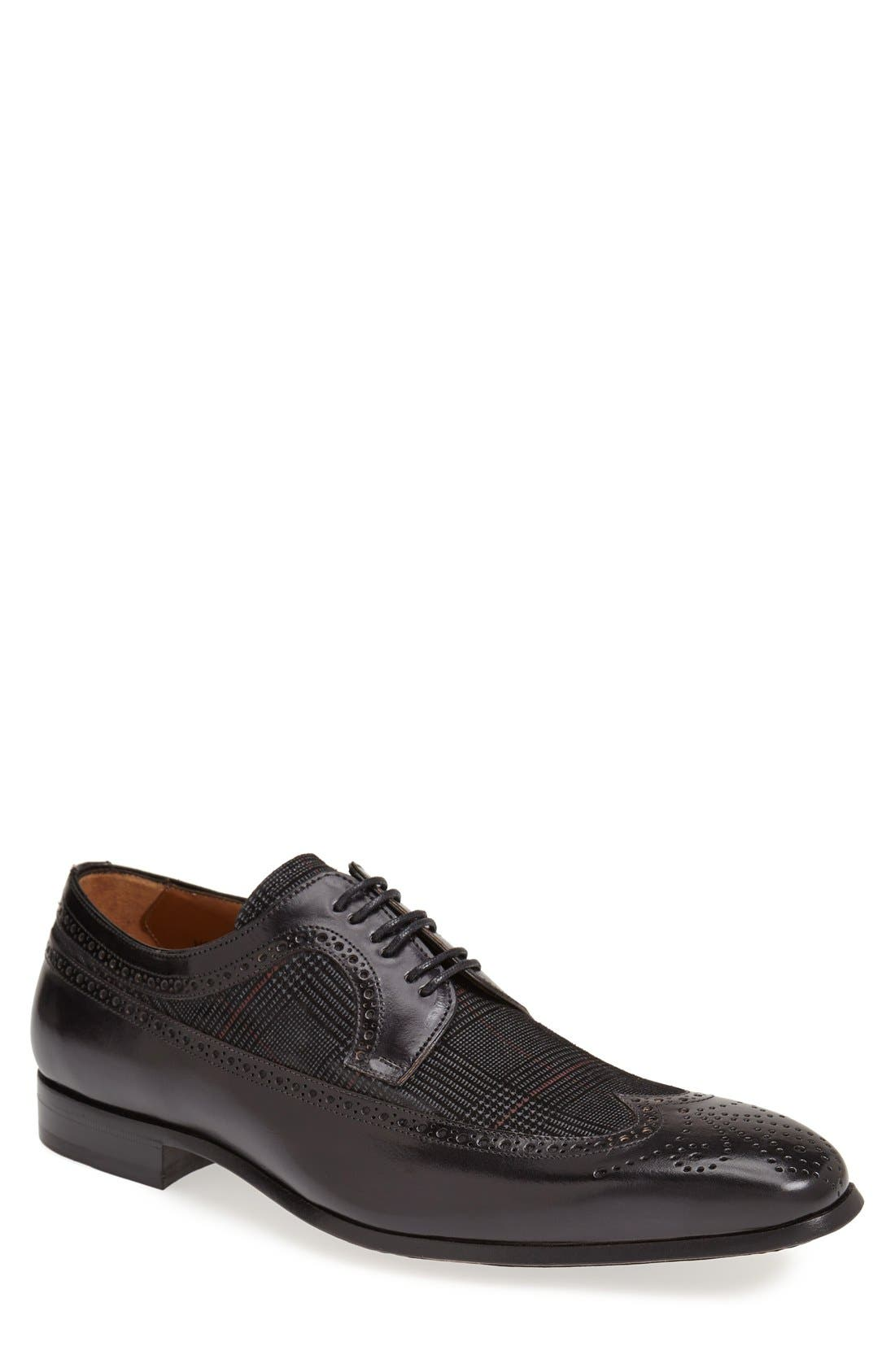 'Johann' Spectator Shoe,                         Main,                         color, Black/ Grey