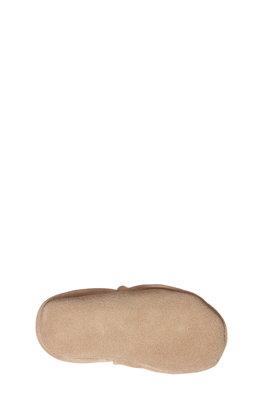 Cozy Moccasin Crib Shoe,                             Alternate thumbnail 4, color,                             Taupe