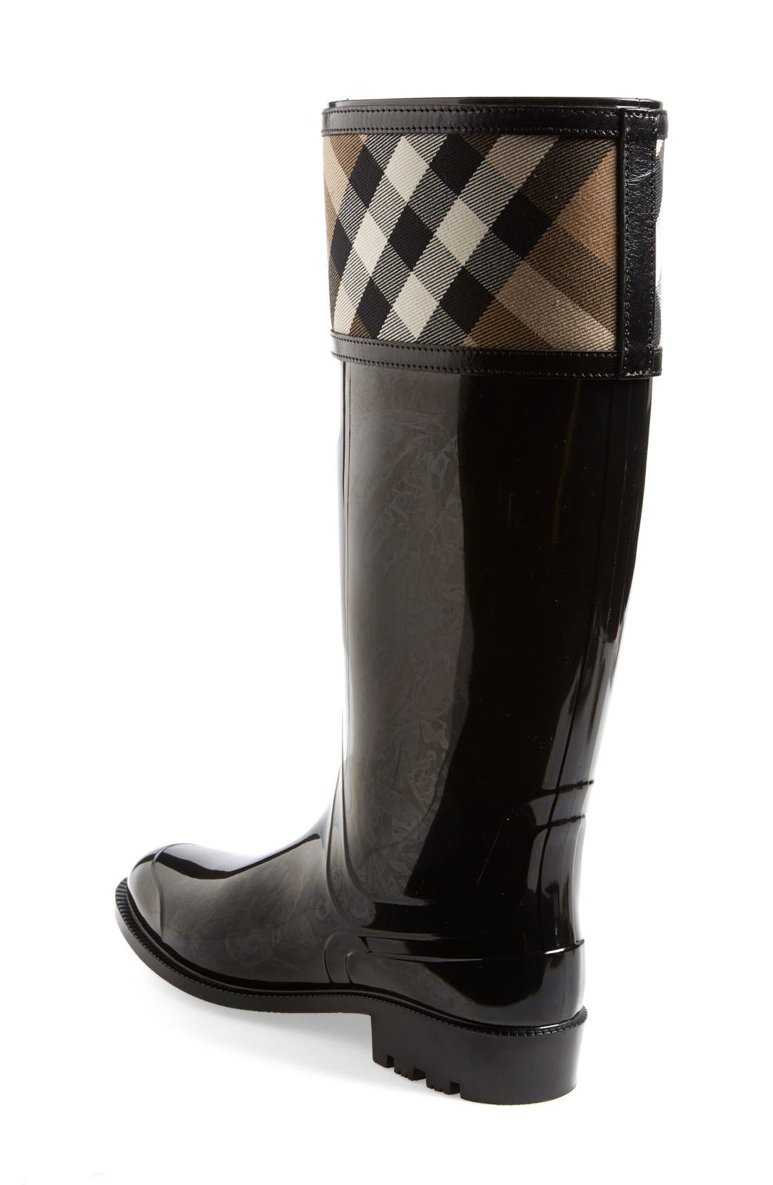 Alternate Image 2  - Burberry Crosshill Rain Boot (Women)