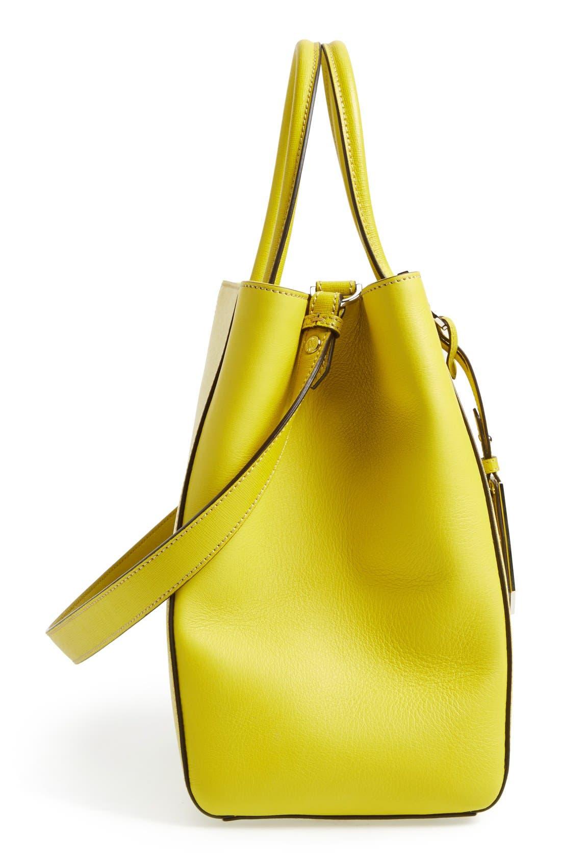 Alternate Image 5  - Fendi '2Jours Elite' Leather Shopper