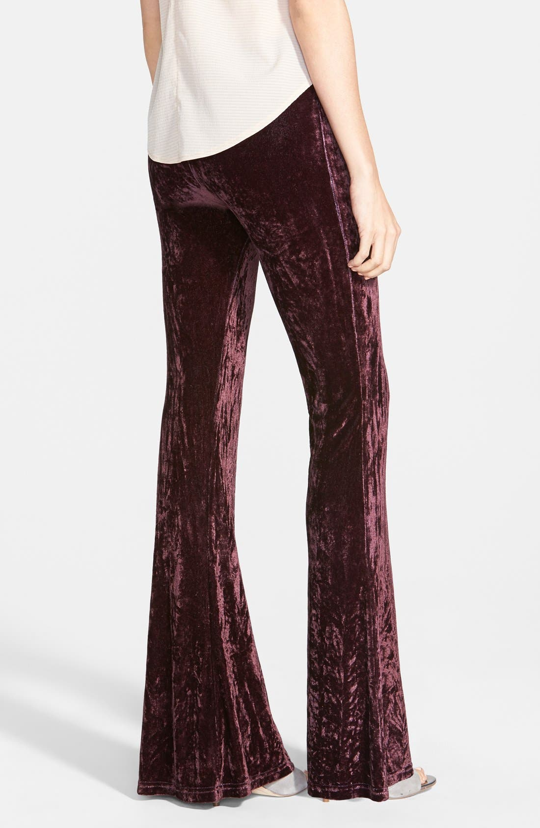 Alternate Image 2  - Raga Velour Bell Bottom Pants