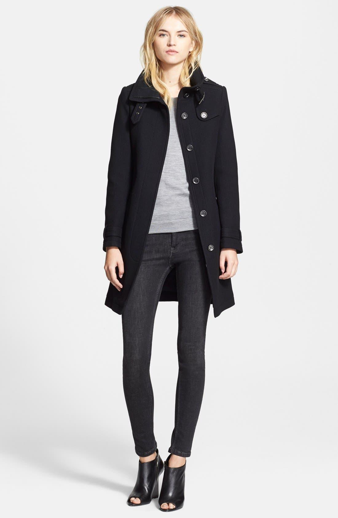 Alternate Image 2  - Burberry Brit 'Rushworth' Belted Wool Blend Coat