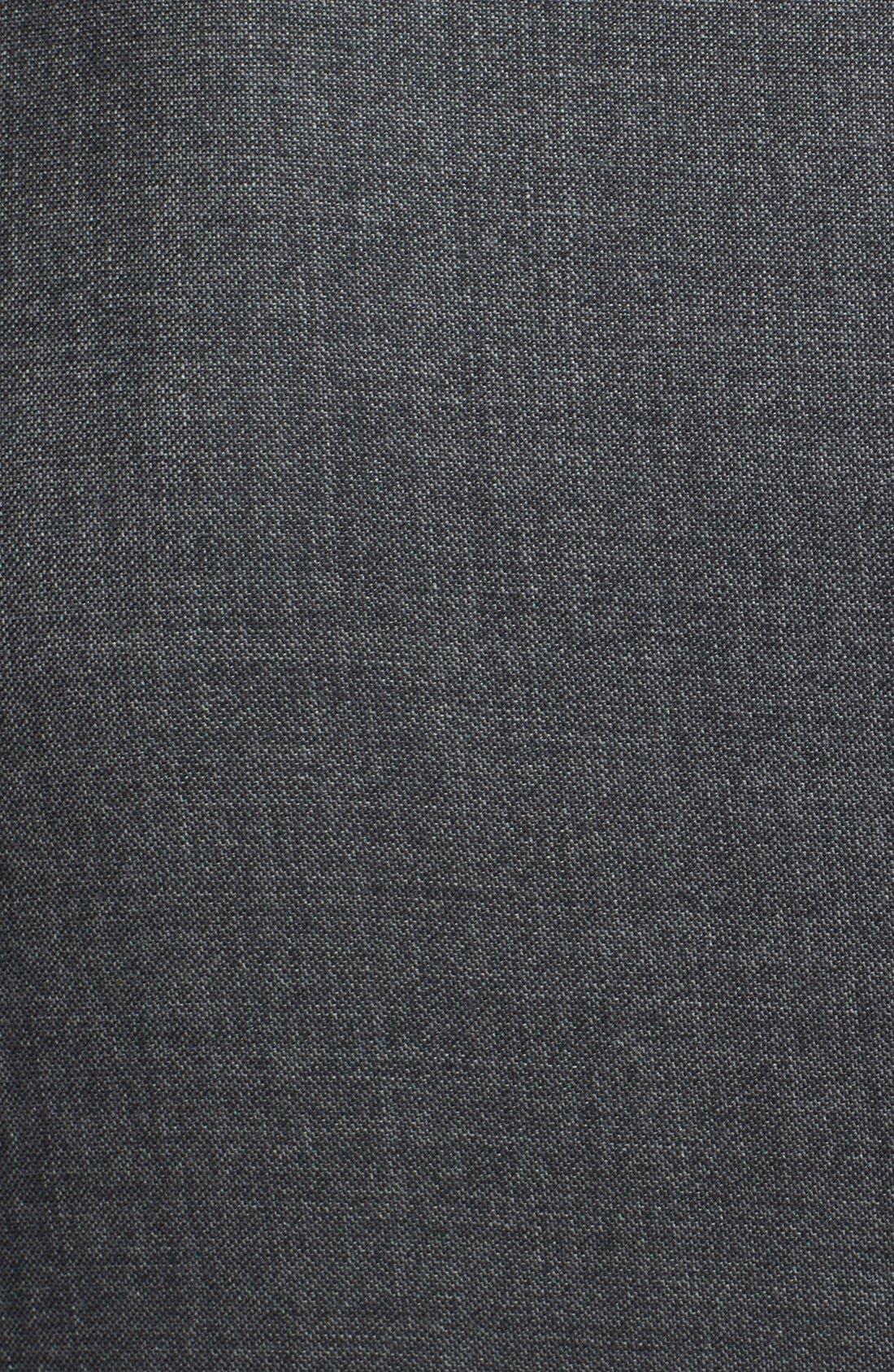 Alternate Image 5  - Ralph Lauren Black Label Trim Fit Grey Wool Suit