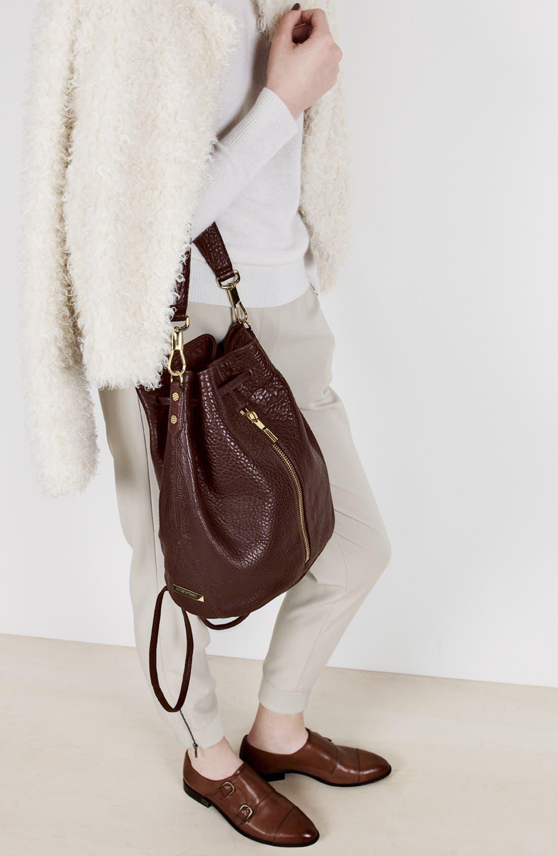 Alternate Image 2  - Elizabeth and James 'Cynnie' Leather Sling Backpack