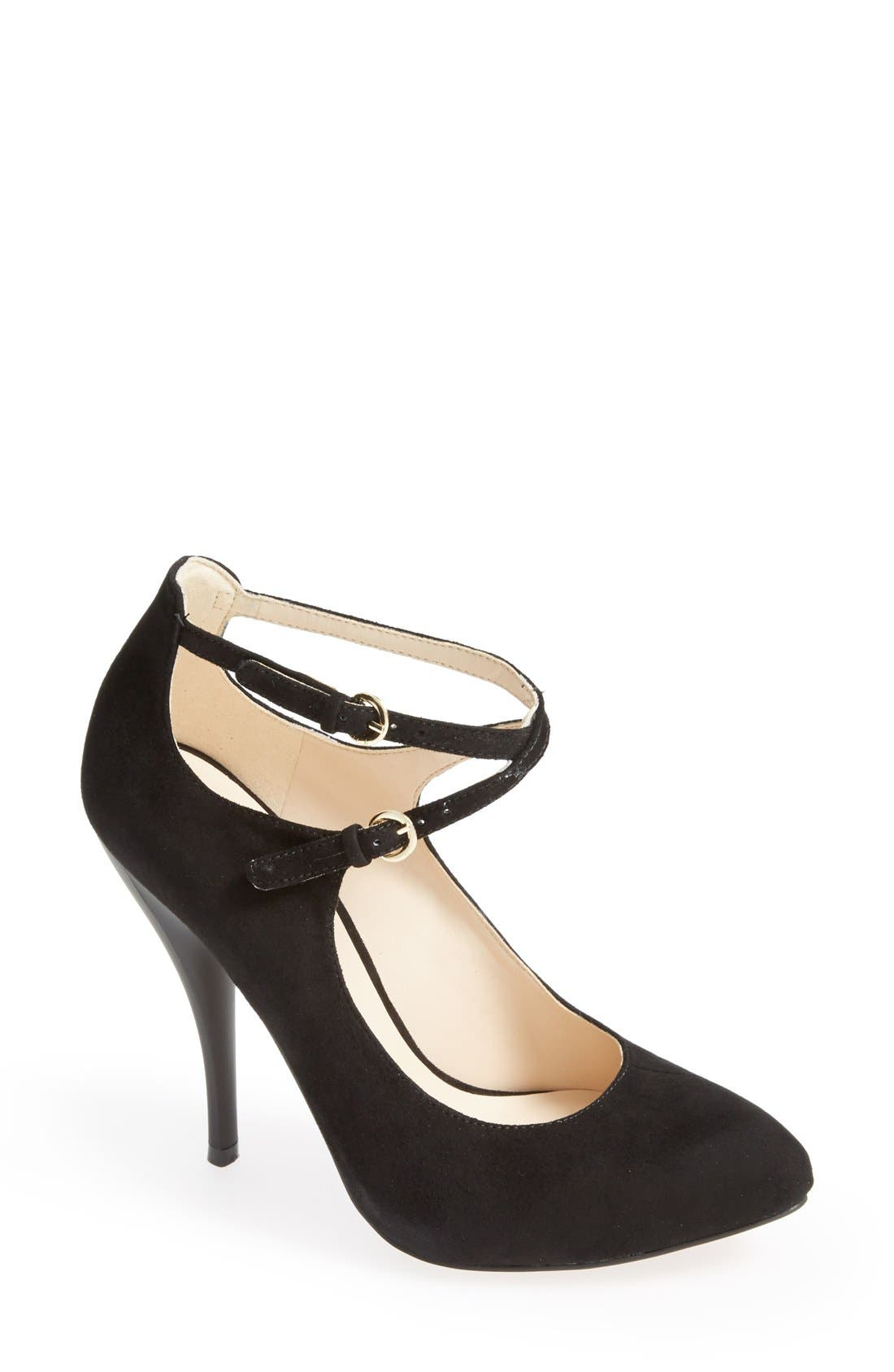 Alternate Image 1 Selected - Nine West 'Coherent' Ankle Strap Suede Pump (Women)