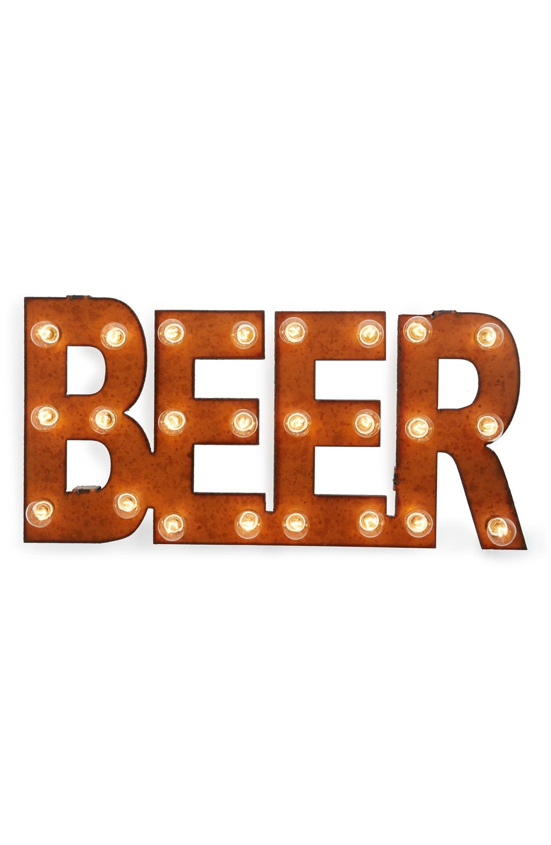 Main Image - Universal Ironworks 'Marquee Lights - Beer' Recycled Metal Sign