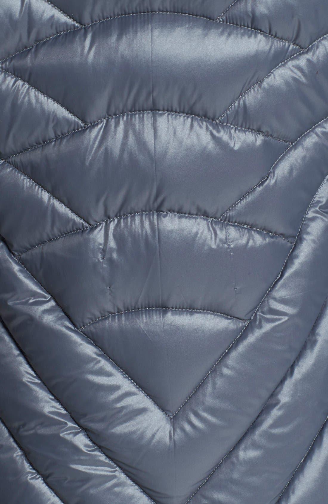 Alternate Image 3  - BCBGeneration Packable Down Coat with Faux Fur Trim