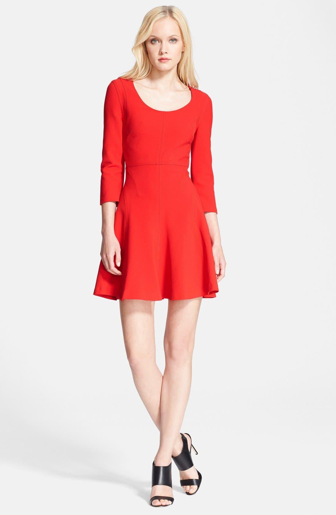 Alternate Image 1 Selected - Diane von Furstenberg 'Paloma' Woven Fit & Flare Dress