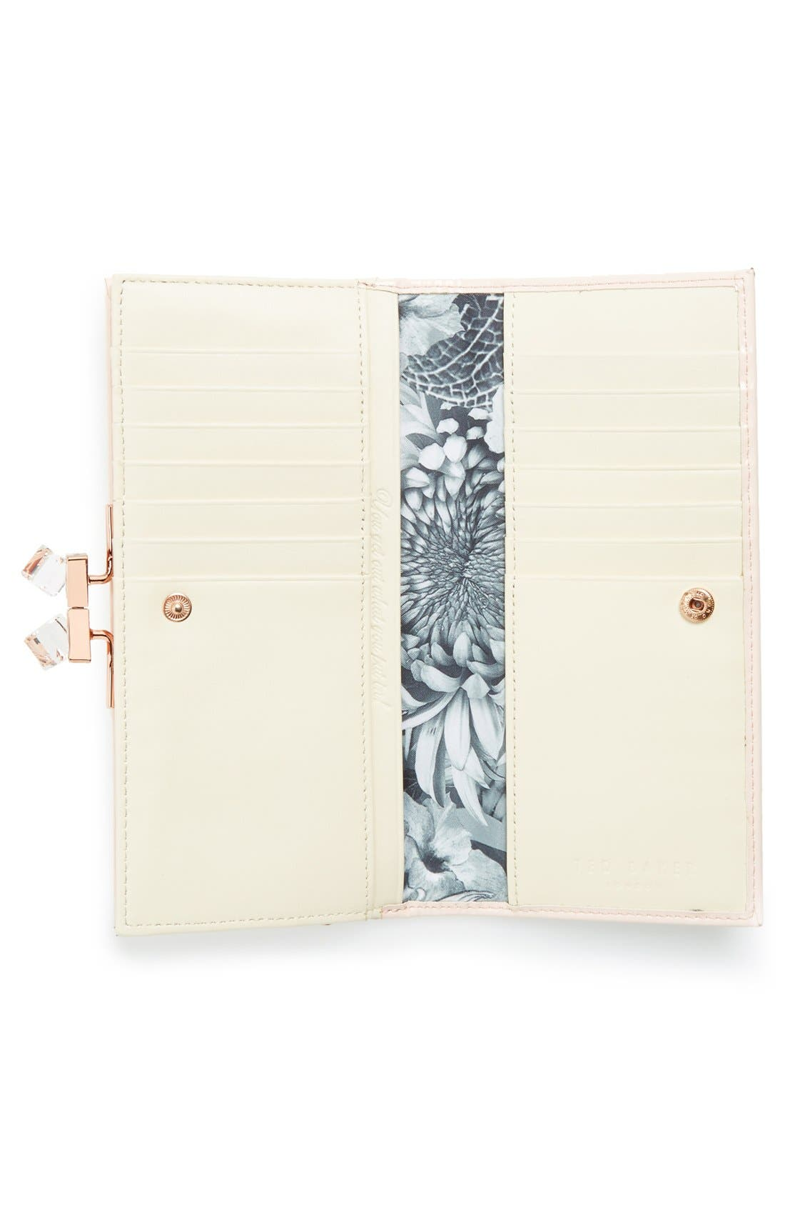 Alternate Image 2  - Ted Baker London 'Crystal Popper' Patent Leather Matinee Wallet