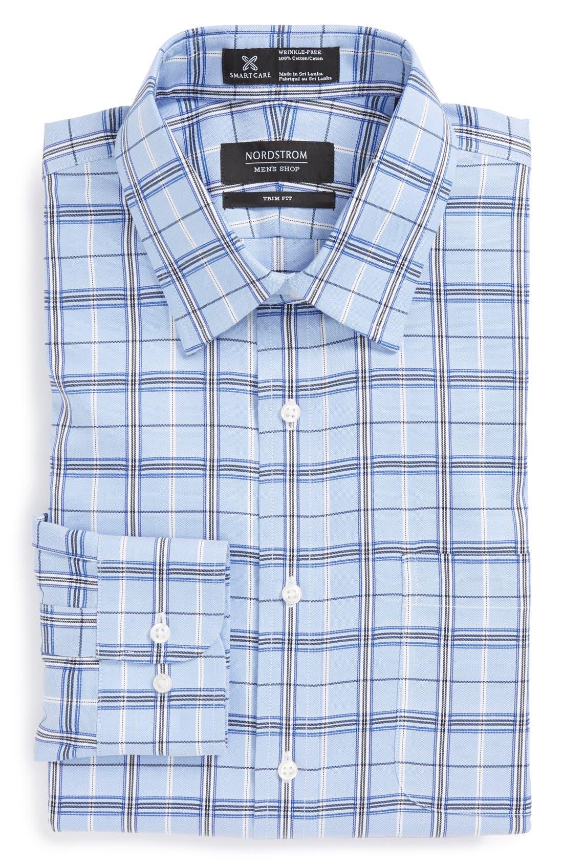 Main Image - Nordstrom Smartcare™ Trim Fit Plaid Dress Shirt