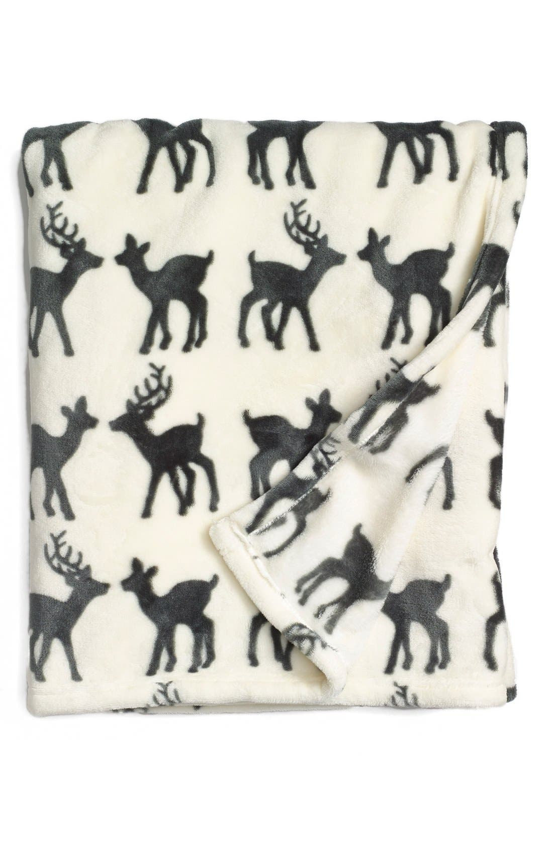 Alternate Image 1 Selected - Nordstrom at Home 'Deer Date' Plush Throw