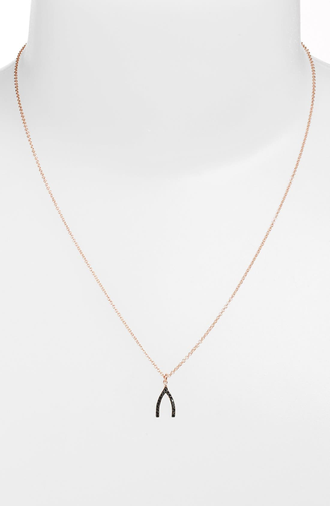 Alternate Image 1 Selected - Sugar Bean Jewelry Wishbone Pendant Necklace