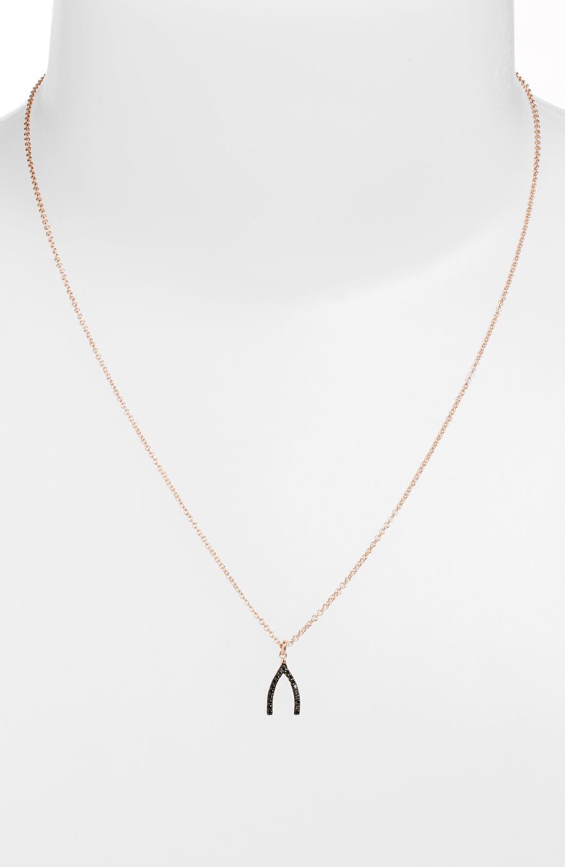 Main Image - Sugar Bean Jewelry Wishbone Pendant Necklace