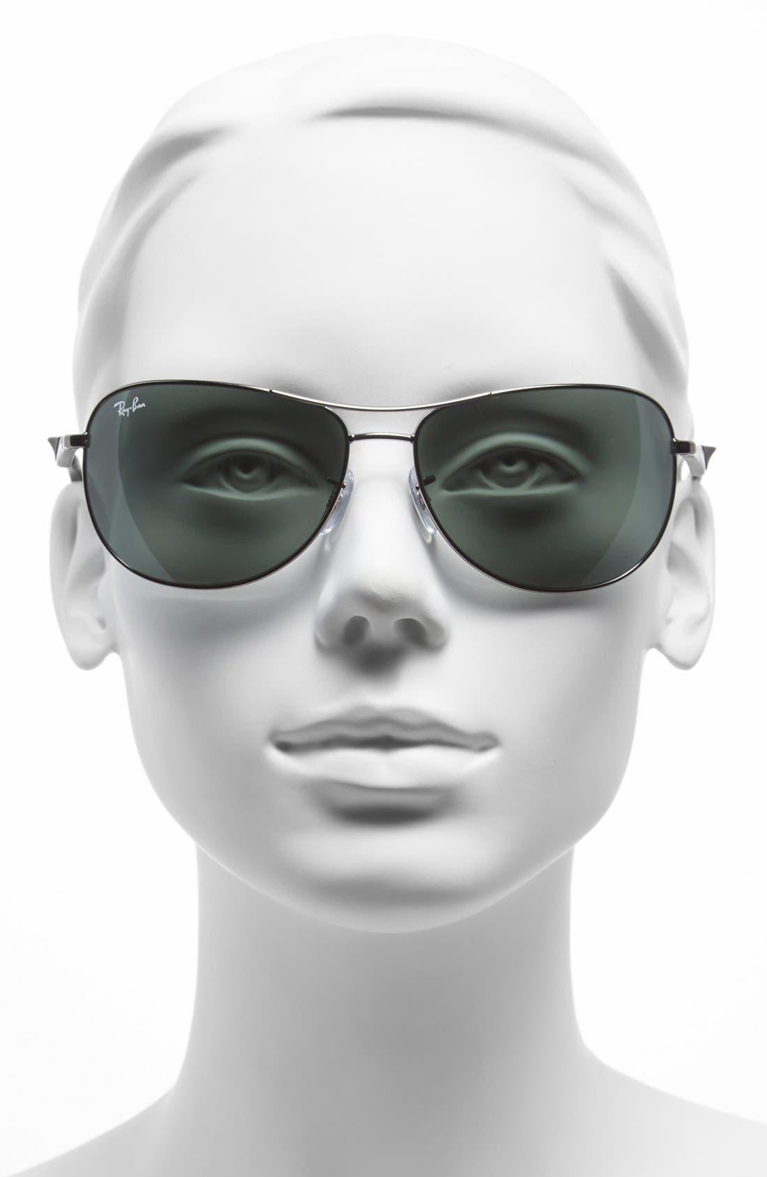 Alternate Image 2  - Ray-Ban 62mm Steel Aviator Sunglasses