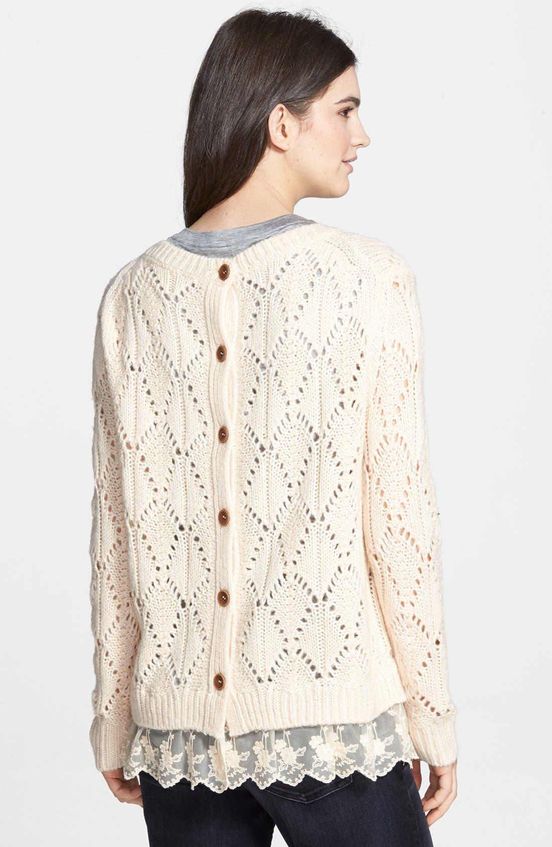 Alternate Image 2  - Hinge Ruffle Hem Sweater