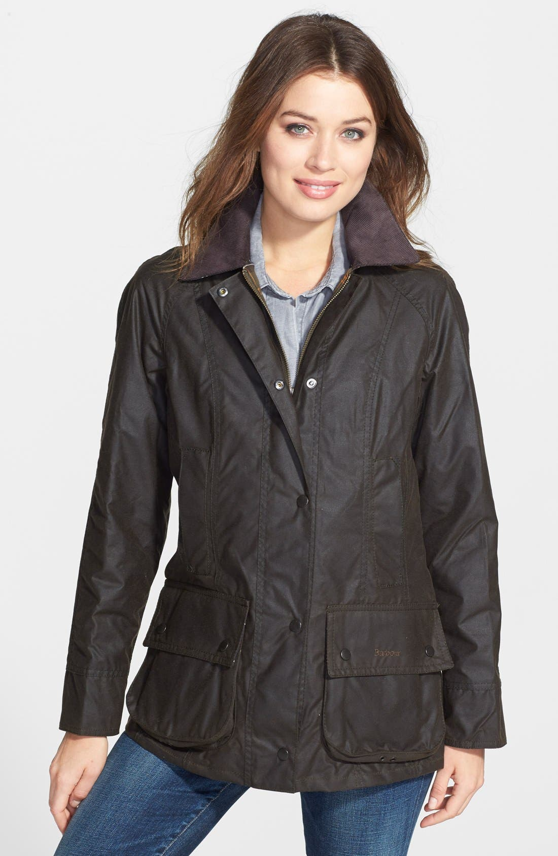 Main Image - Barbour Beadnell Waxed Cotton Jacket