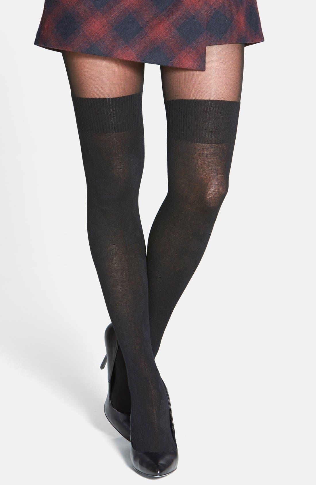 Alternate Image 1 Selected - Pretty Polly 'Secret Socks' Tights