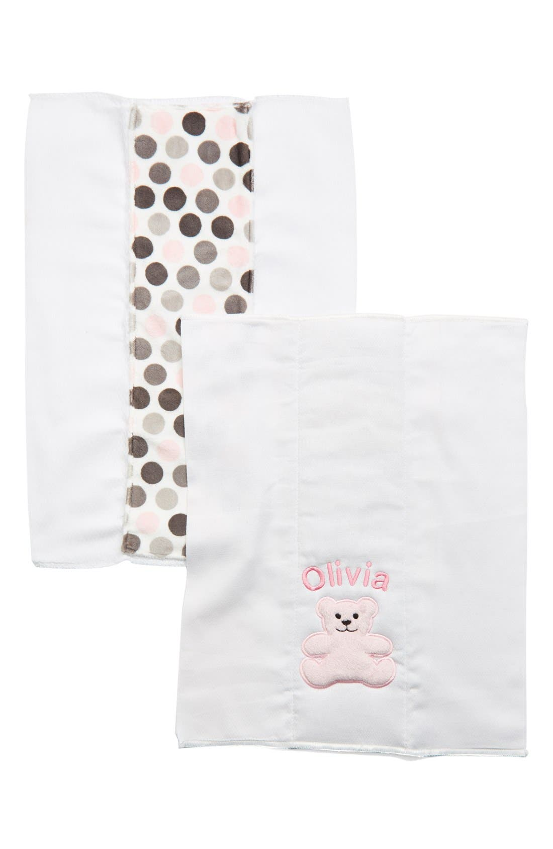 Alternate Image 1 Selected - Bibz N Thingz Personalized Burp Cloths (Set of 2)