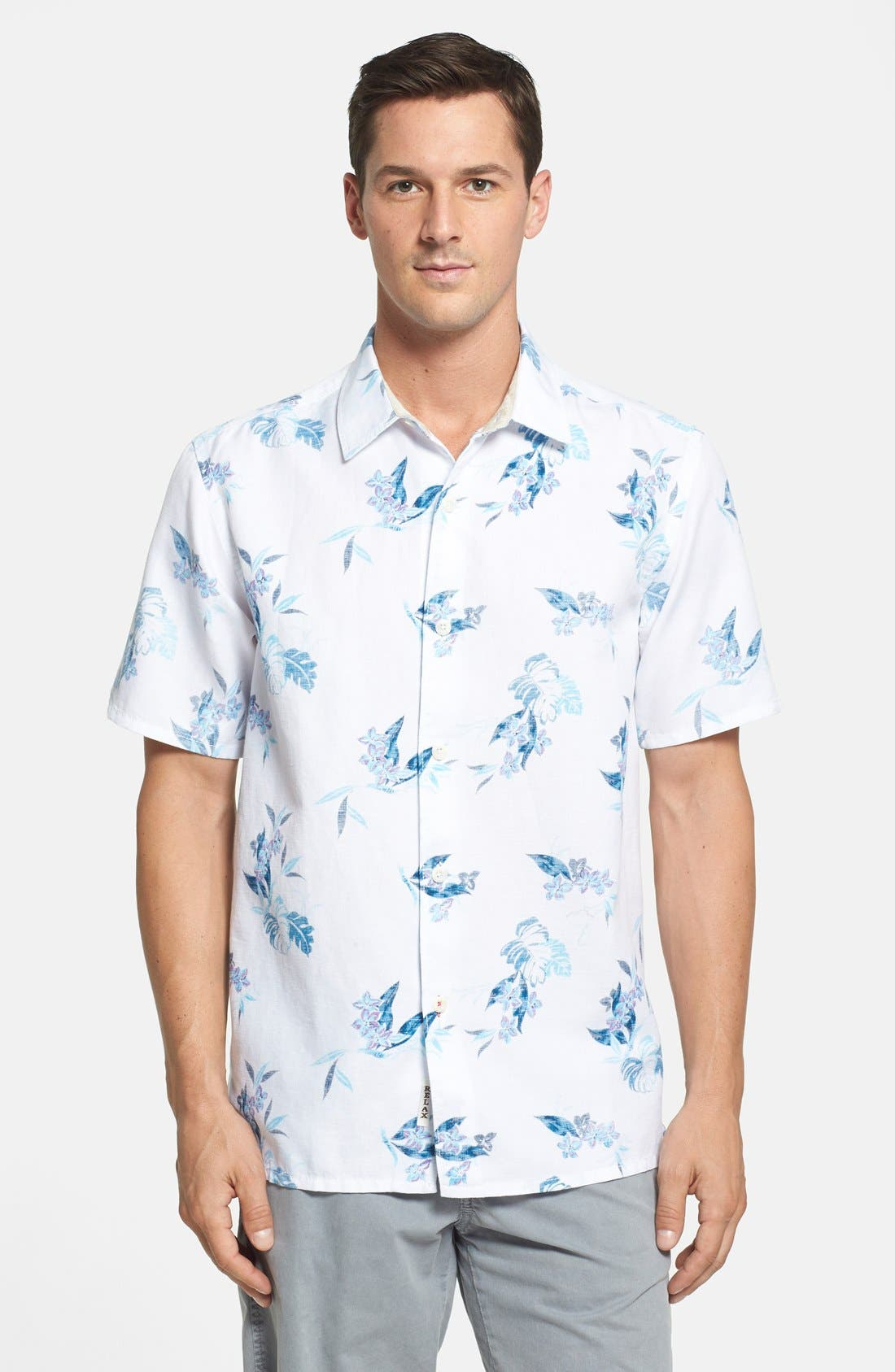 Alternate Image 1 Selected - Tommy Bahama 'Aloha Breezer' Regular Fit Sport Shirt